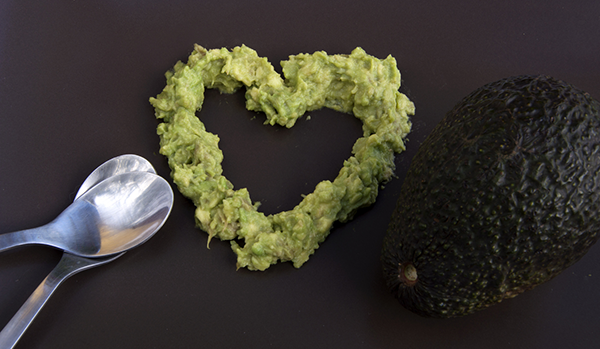 Avocado in Shape of Heart