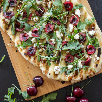 grilled cherry pizza