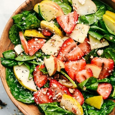 strawberry apple and pear salad